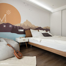 201873平米二居卧室现代装修欣赏图