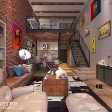热门113平米复式客厅装饰图