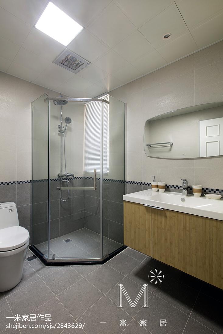 热门面积83平北欧二居卫生间装修图片