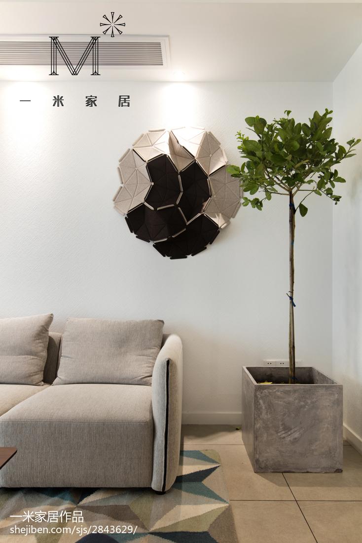 81平米二居客厅北欧装修欣赏图片大全