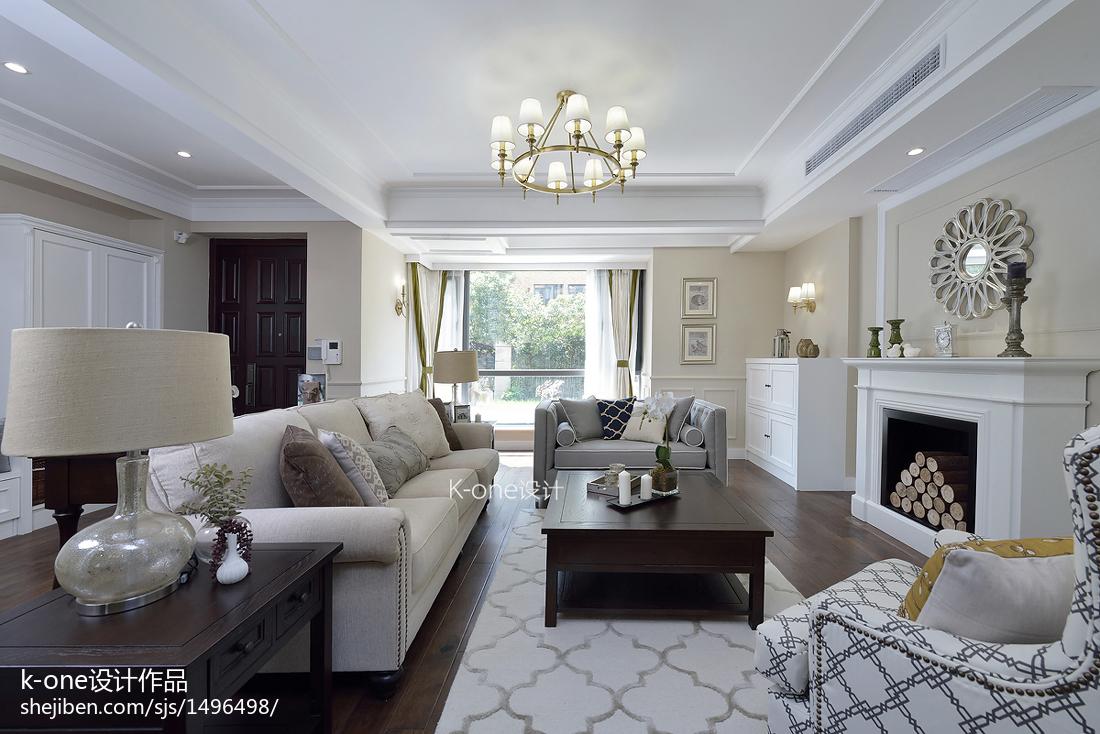 2018精选135平米美式别墅客厅装修实景图片大全