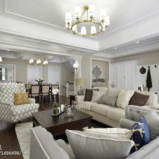 精美118平米美式别墅客厅欣赏图片大全