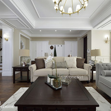 热门112平米美式别墅客厅装修设计效果图片