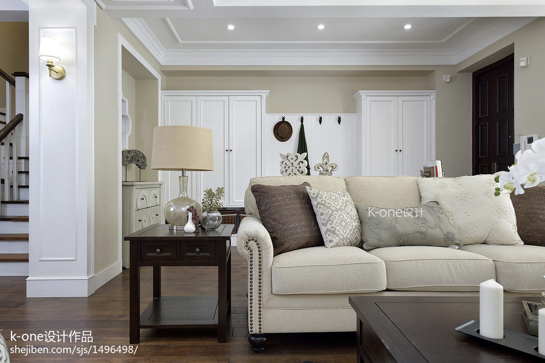 精美面积140平别墅客厅美式装修欣赏图