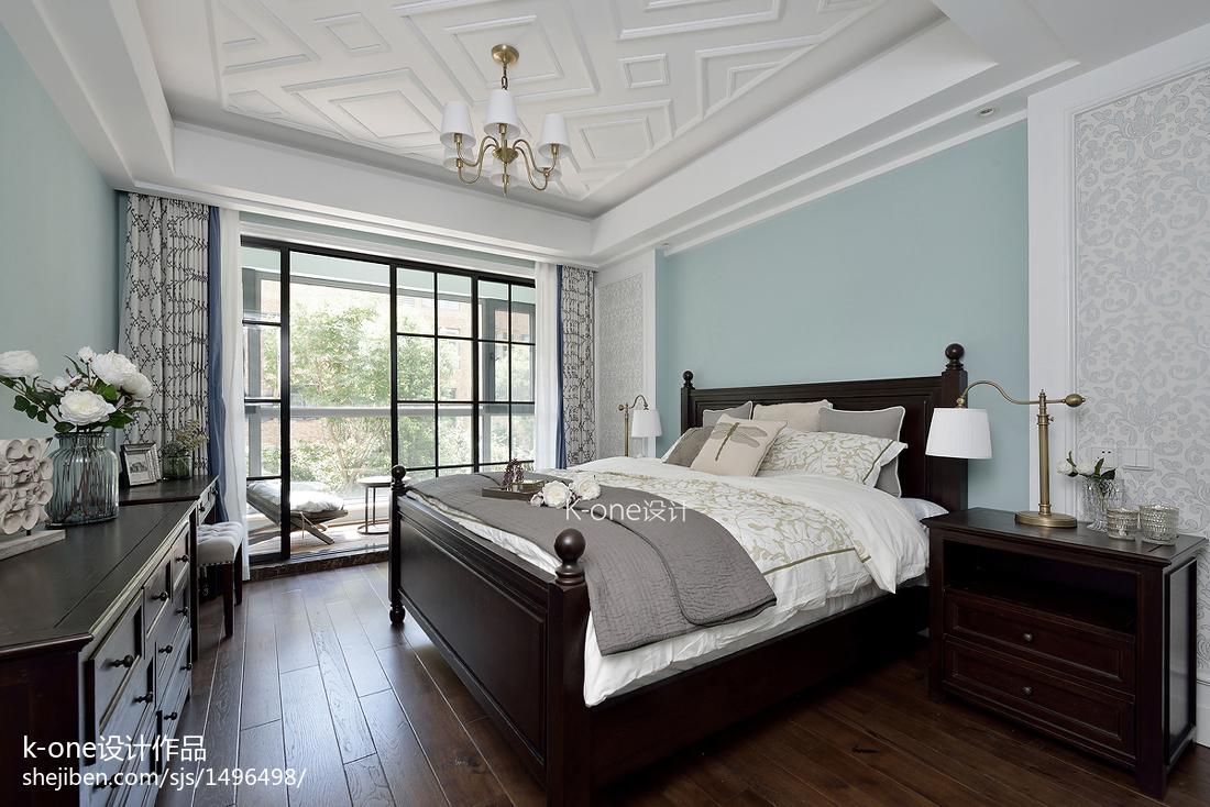 精美123平米美式别墅卧室装修图