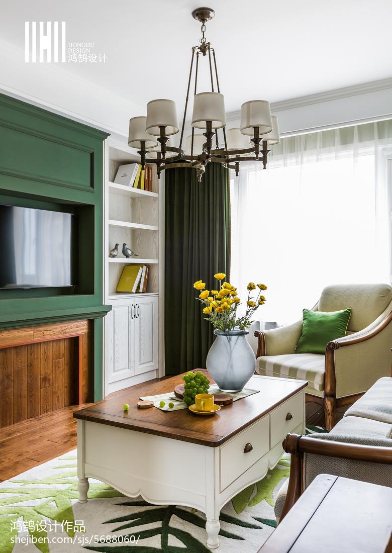 精美99平米三居客厅美式装修图片欣赏
