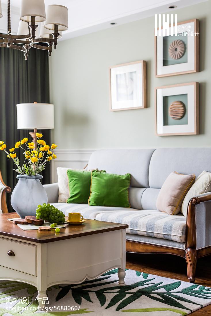 精选大小98平美式三居客厅装修图片大全