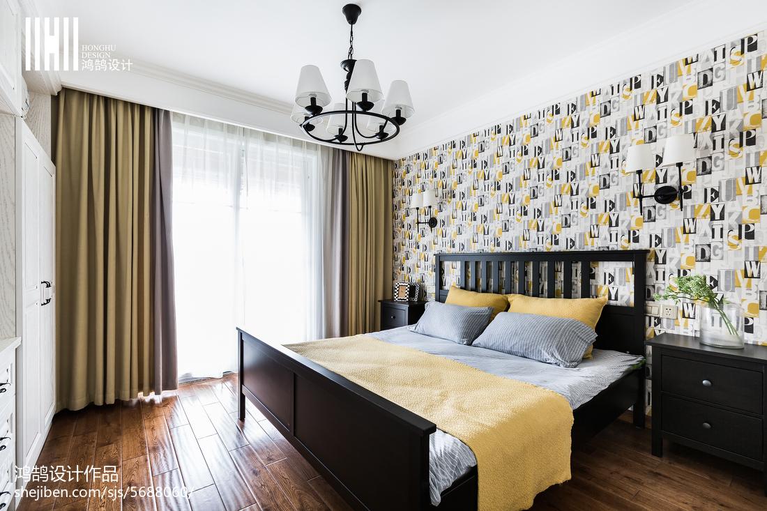 精美97平米三居卧室美式效果图