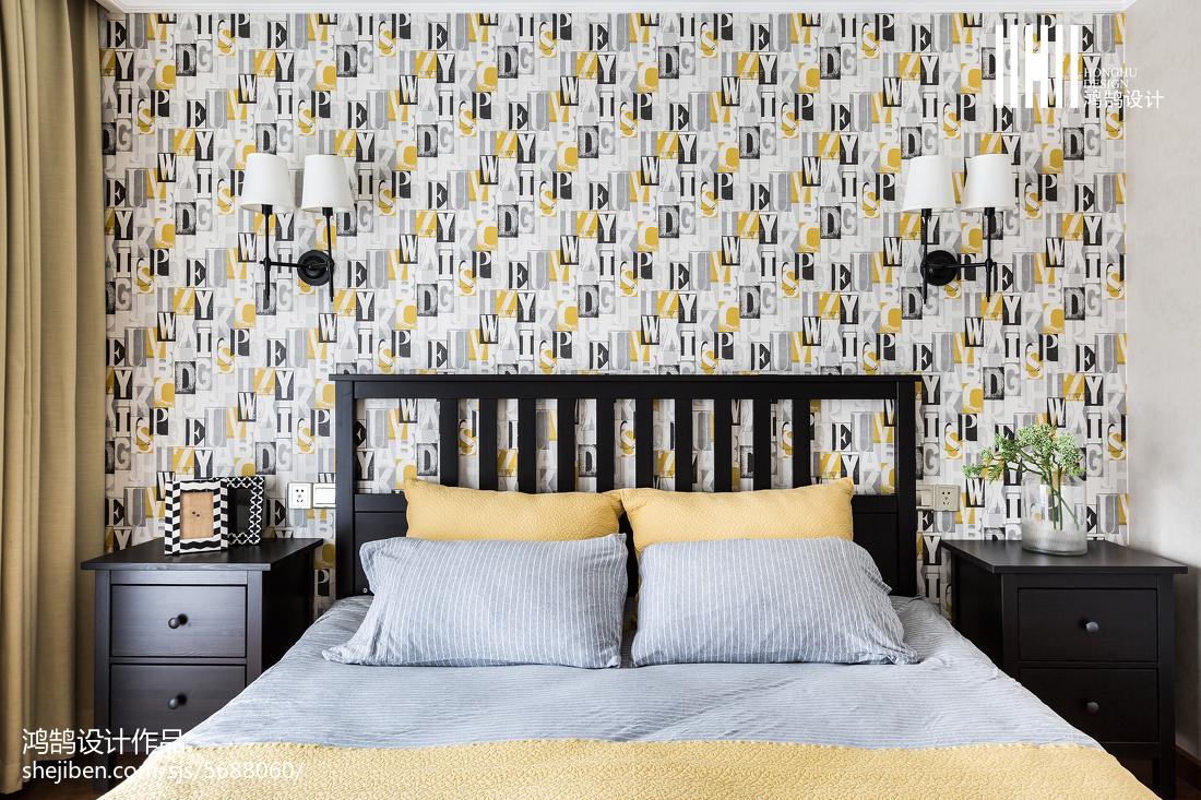 温馨88平美式三居卧室装修效果图