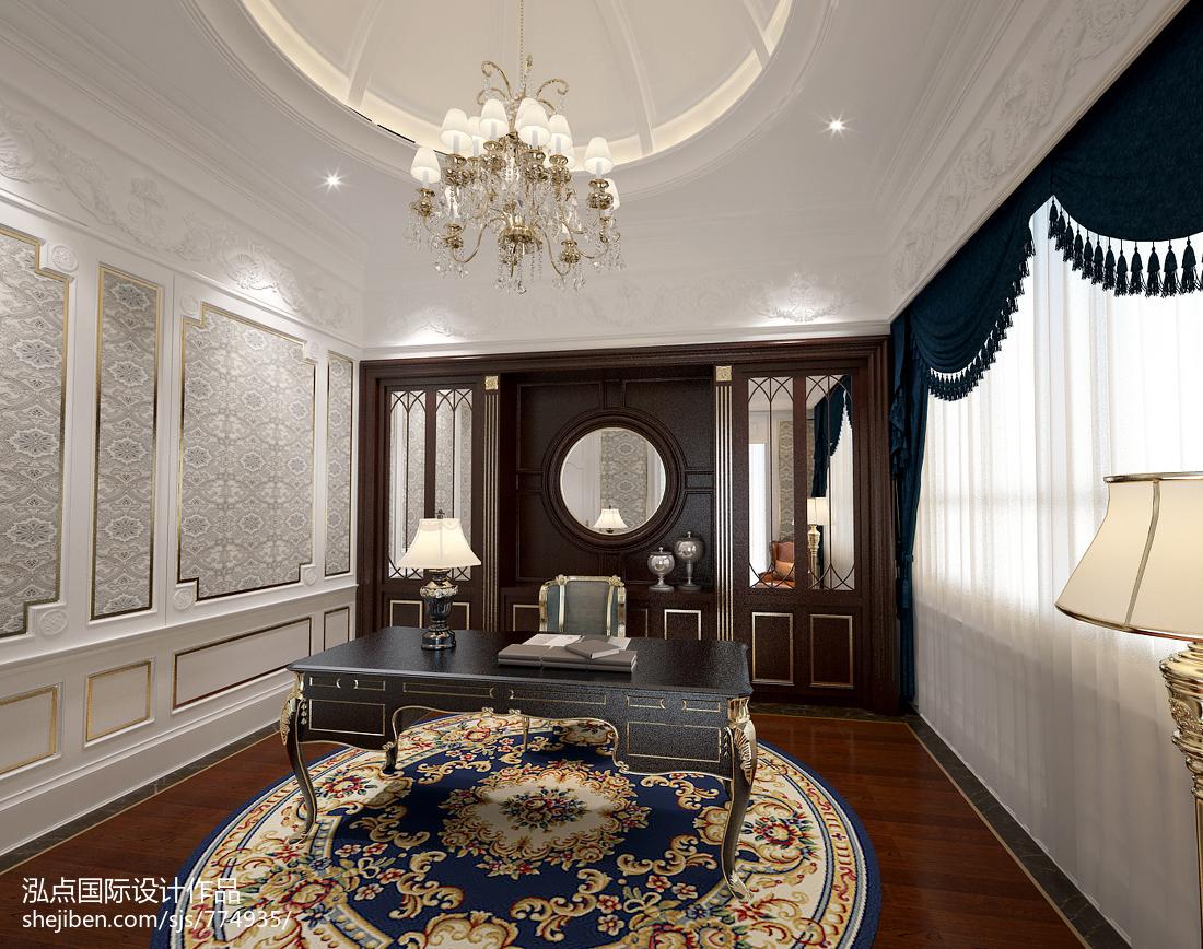 中式古典大气客厅装修效果图