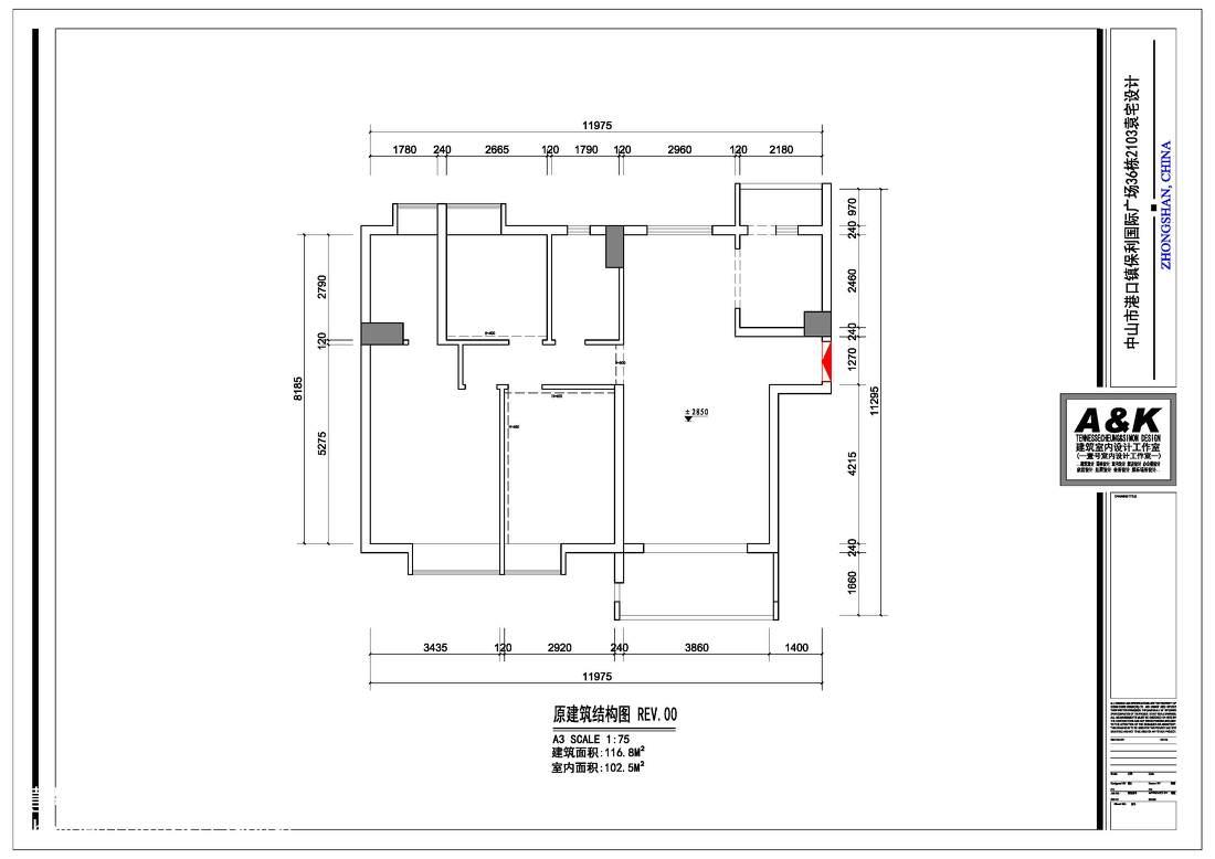 面积108平中式三居装修实景图片欣赏