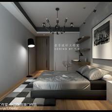 2018精选面积96平简约三居卧室装修实景图片大全