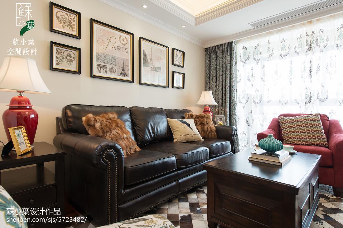 精选面积70平美式二居客厅装修图片大全