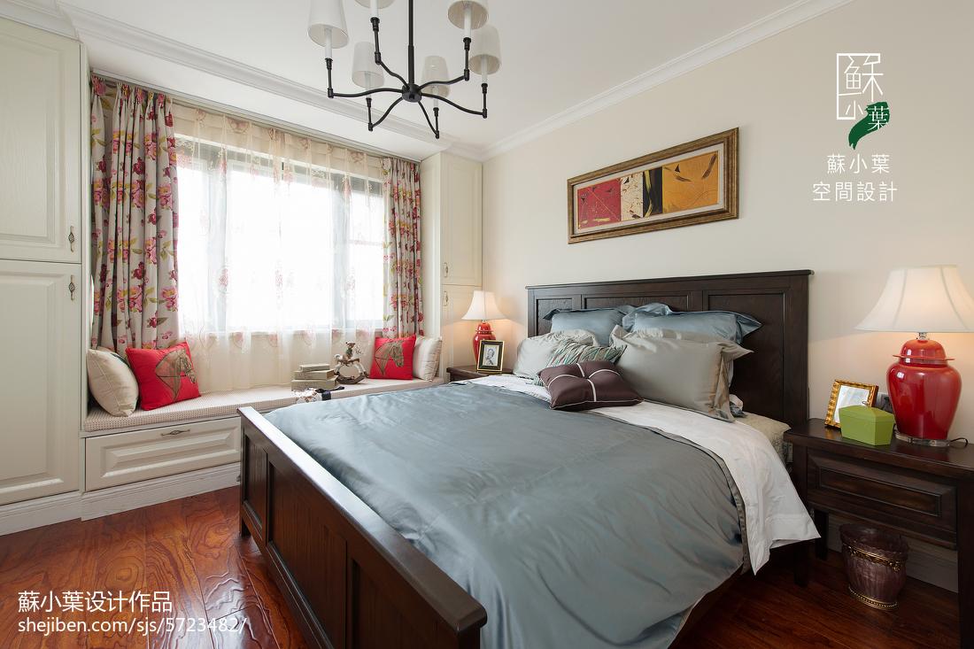 面积73平美式二居卧室实景图片欣赏
