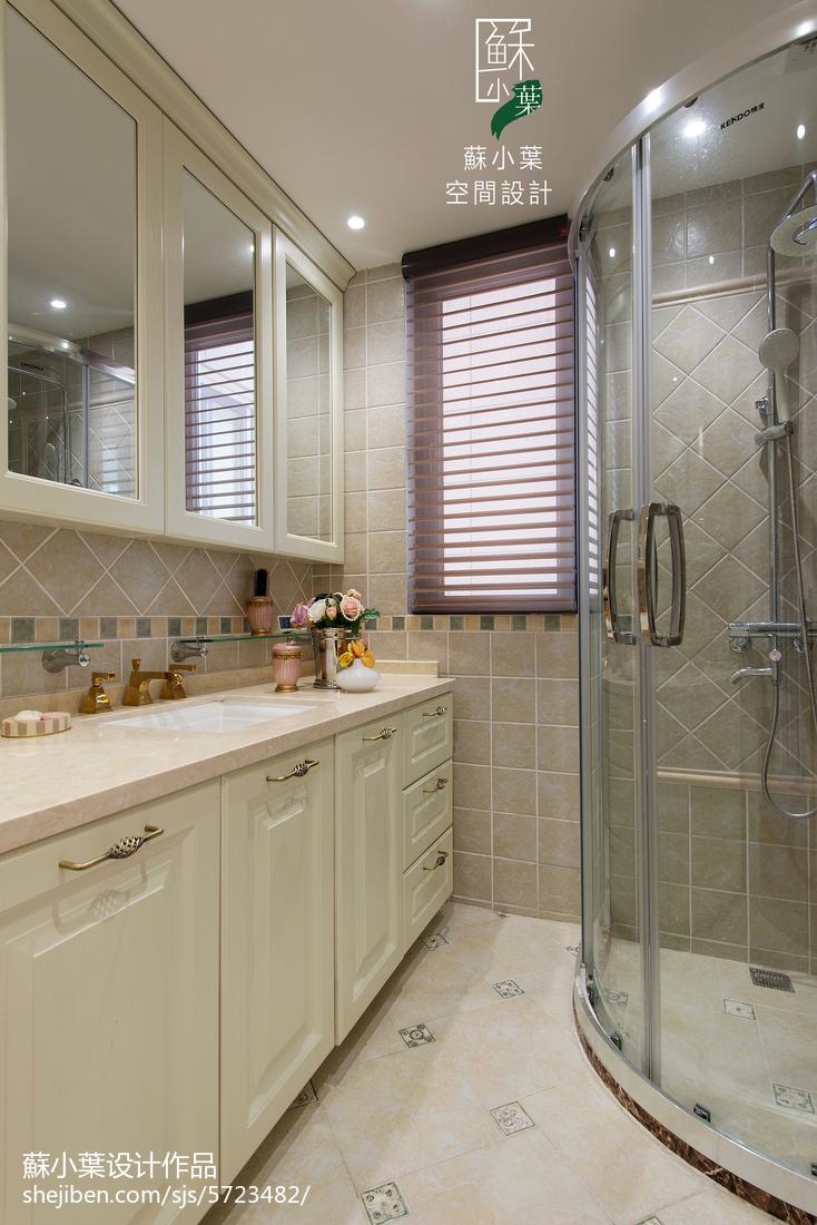 面积75平美式二居卫生间装修欣赏图