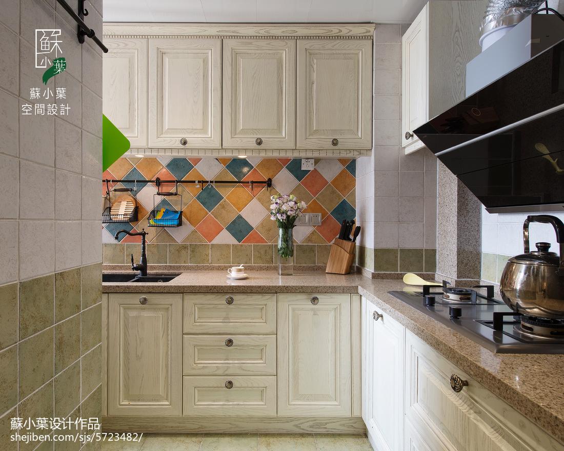 精美面积82平美式二居厨房装饰图片大全