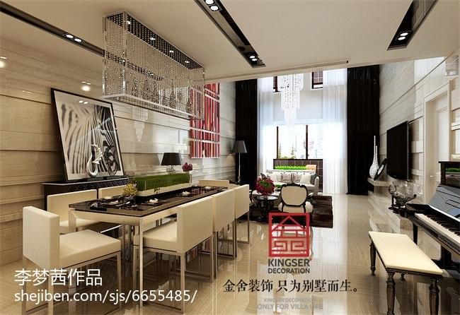 热门面积143平简约四居餐厅装修设计效果图片大全