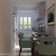 2018面积75平现代二居厨房装饰图片欣赏