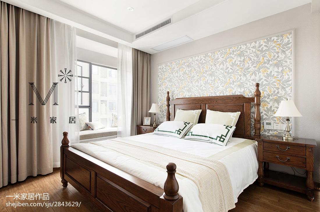 精美二居卧室美式装饰图片欣赏