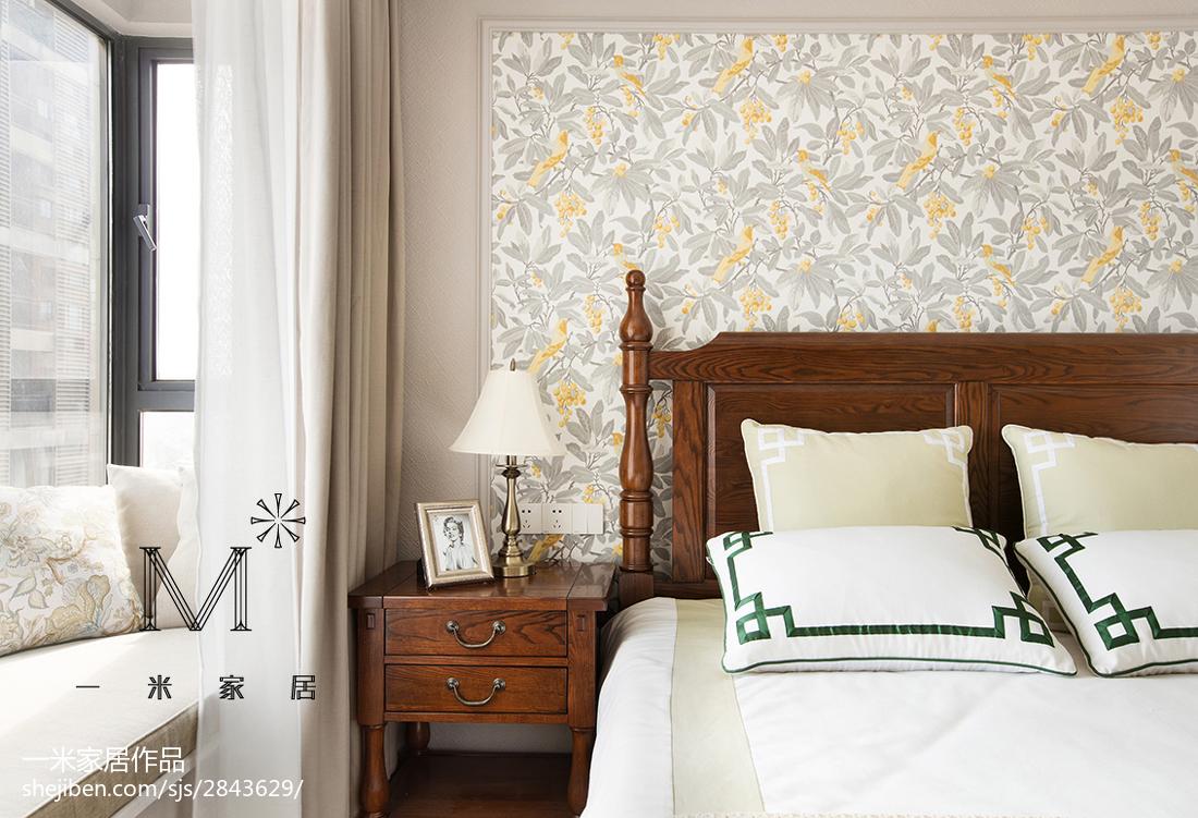 精美面积74平美式二居卧室效果图片欣赏