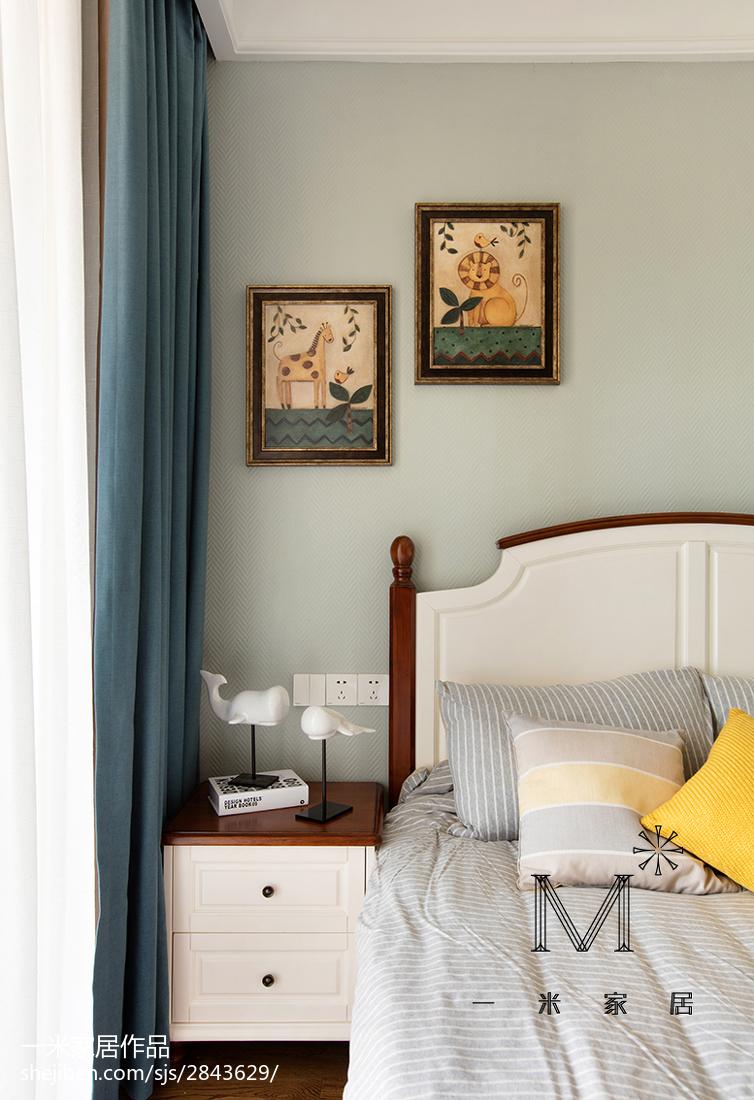 温馨80平美式二居卧室装潢图
