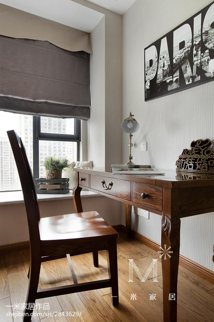 热门面积83平美式二居书房装修设计效果图片欣赏