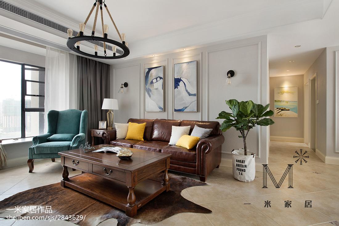 质朴86平美式二居客厅图片欣赏