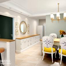 精美面积71平美式二居餐厅装修图片