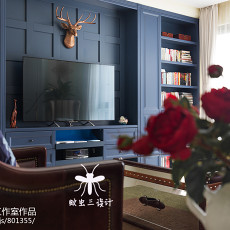 精选128平米四居客厅美式装饰图片大全