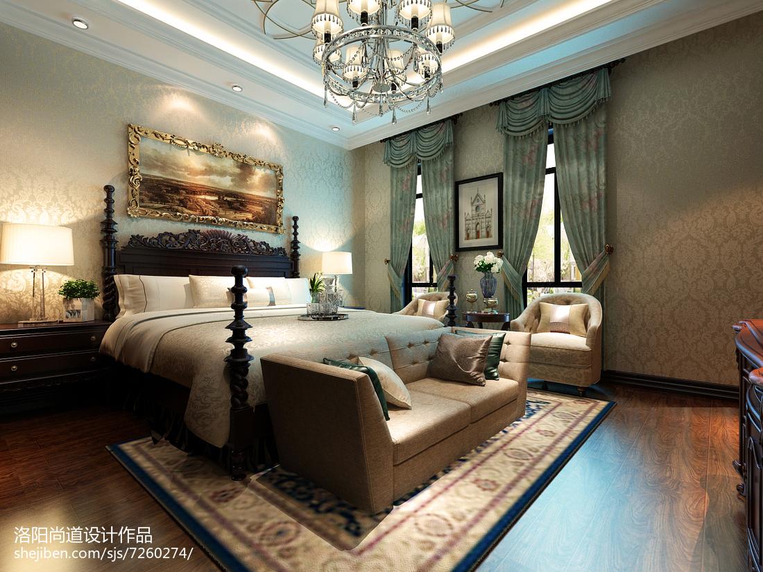 欧式风情大气卧室效果图