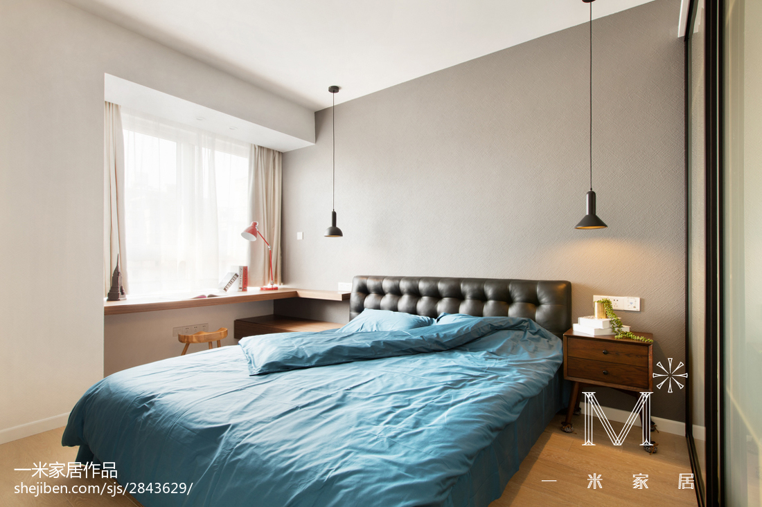 精选89平米北欧小户型卧室装修效果图片