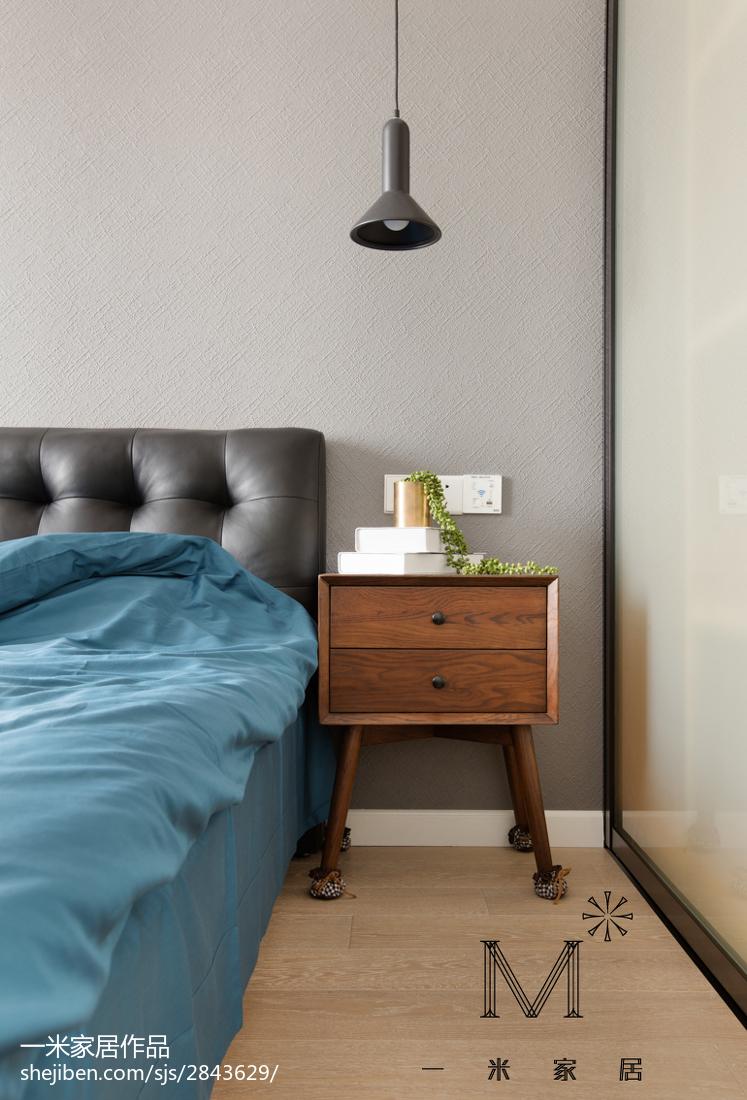 精选面积83平小户型卧室北欧装修实景图片