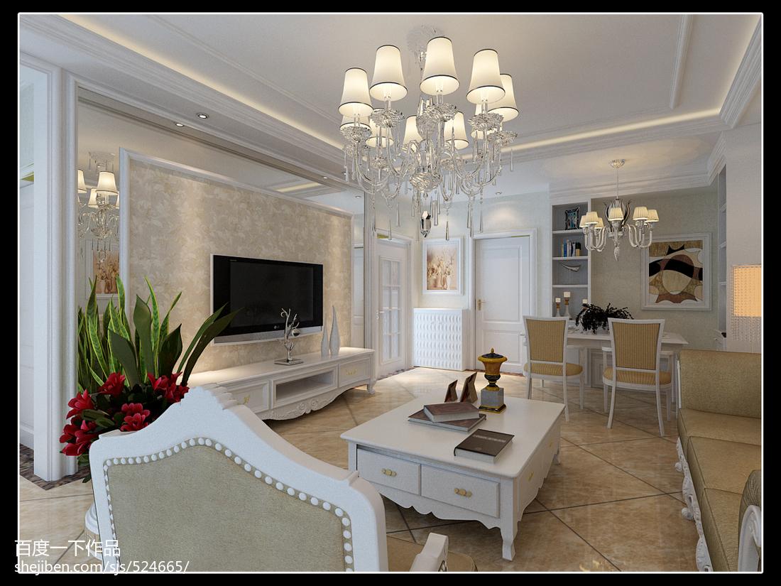 热门面积83平北欧二居装修效果图片欣赏