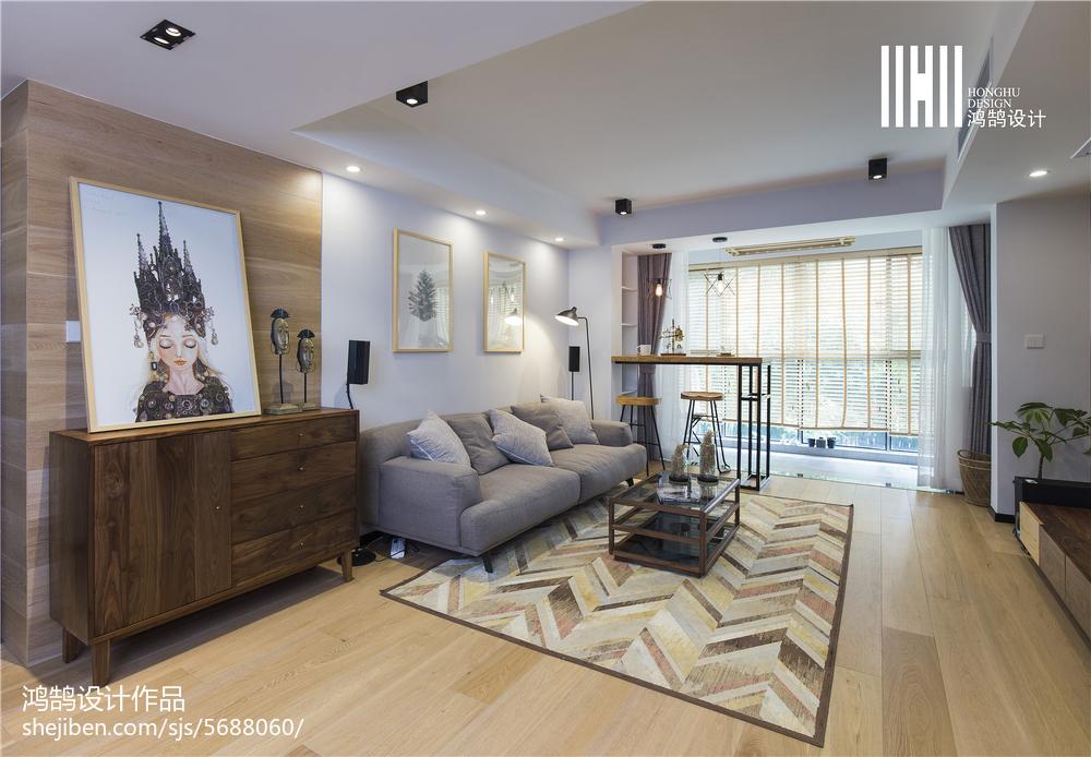 面积87平北欧二居客厅装饰图片欣赏