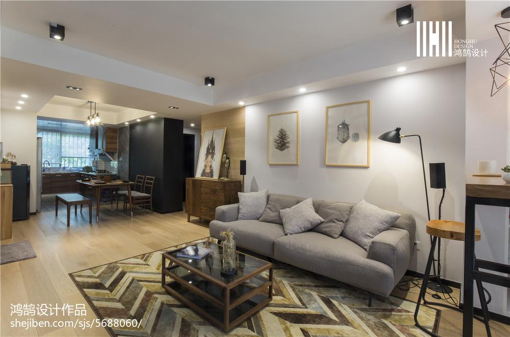 热门面积72平北欧二居客厅装修欣赏图片