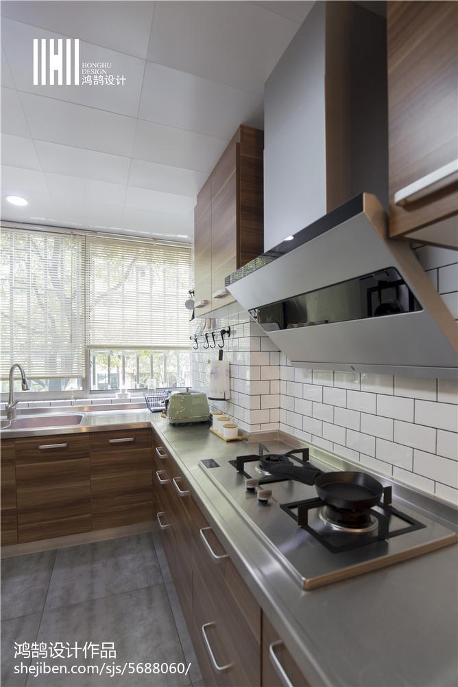 精选面积81平北欧二居厨房装修欣赏图