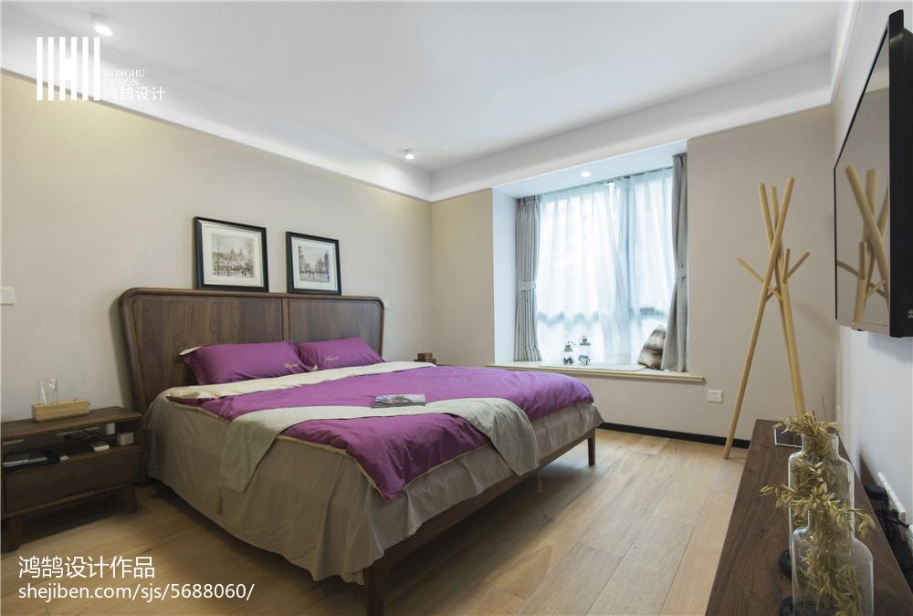 精选75平米二居卧室北欧装修图片