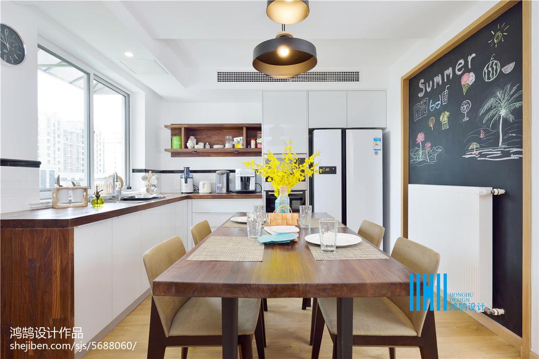 热门复式厨房北欧装修实景图片大全