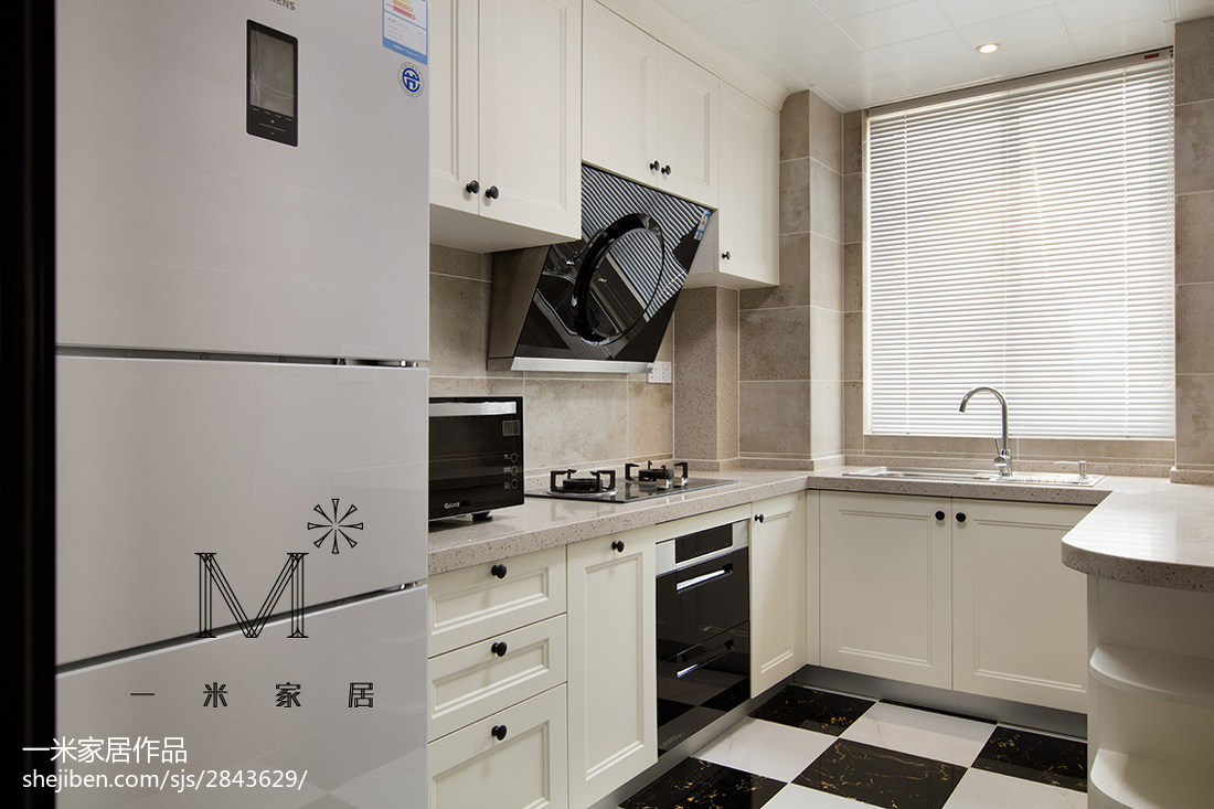 簡潔美式風格廚房設計