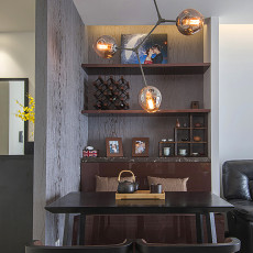 2018面积83平现代二居餐厅装修图