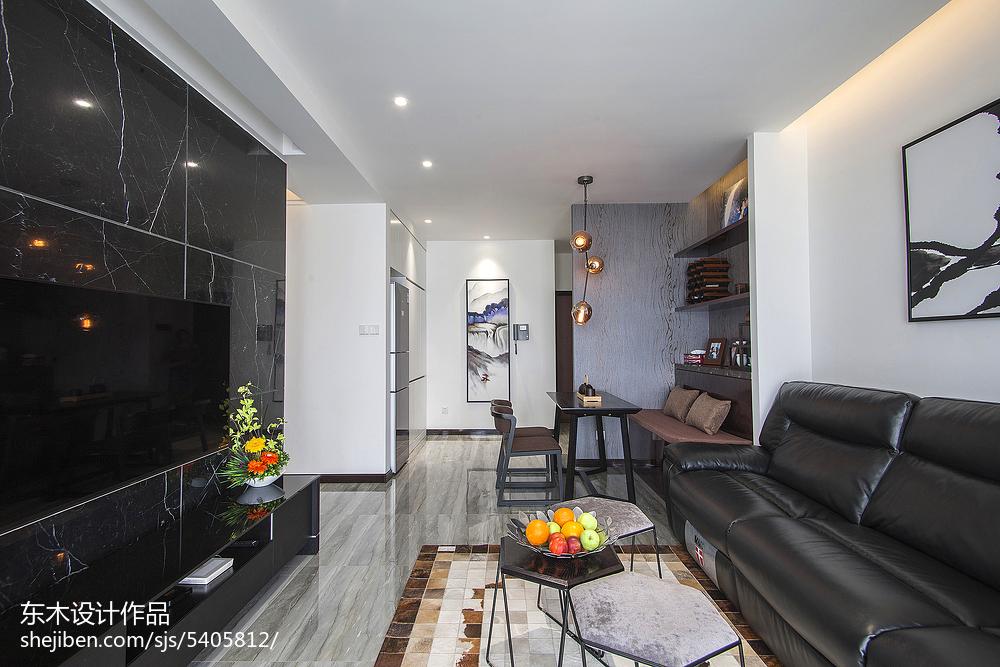 201884平米二居客厅现代装饰图片大全