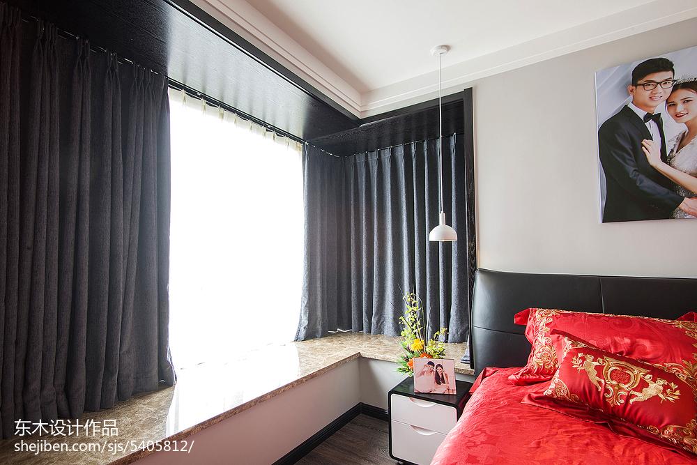现代风格卧室窗台装修