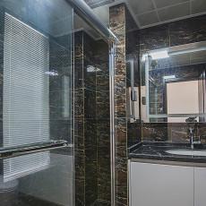 现代风格卫浴隔断装修