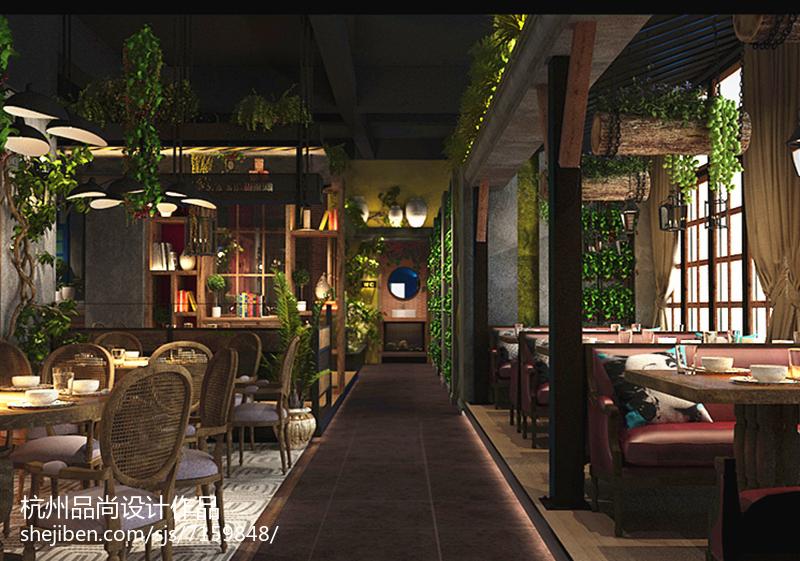 美式复古休闲餐厅设计