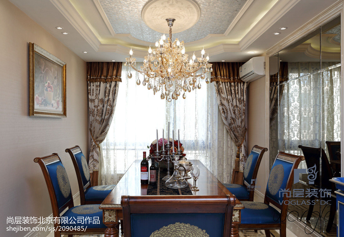 精美面积131平新古典四居餐厅装修设计效果图片大全