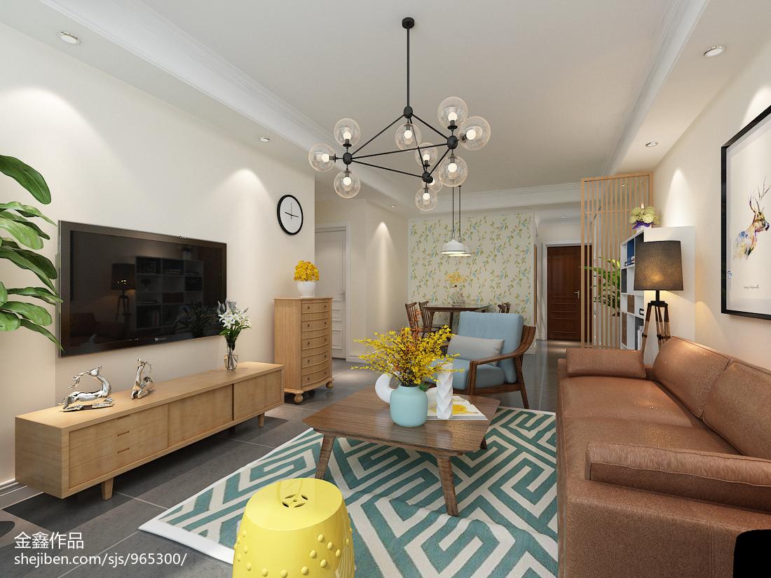 大方时尚简约风格二居室装修效果图