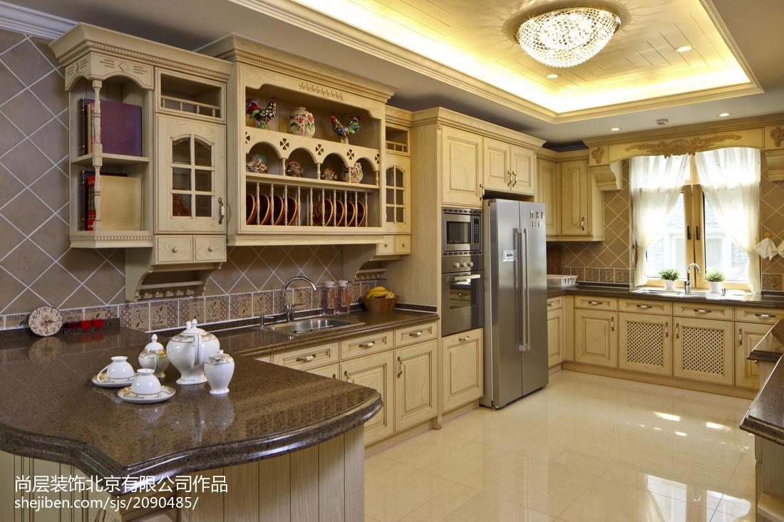 热门127平米欧式别墅厨房装修效果图