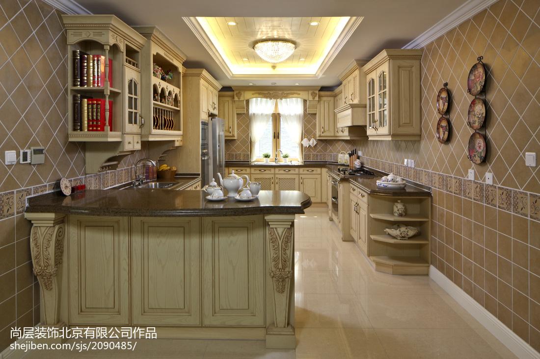 2018精选127平米欧式别墅厨房装修图片欣赏