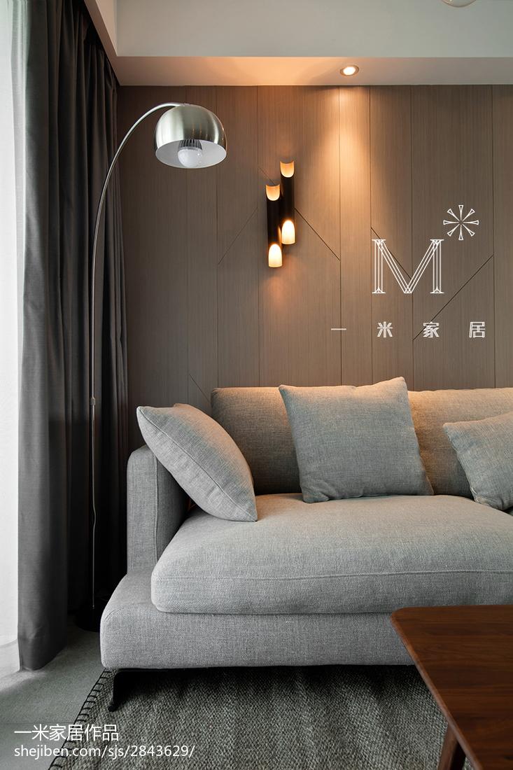 面积74平现代二居客厅装修实景图片大全