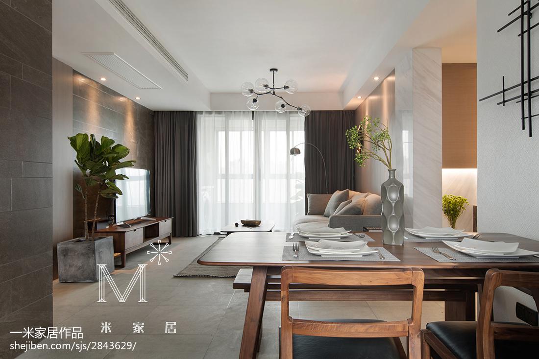精选面积76平现代二居餐厅装修实景图片大全